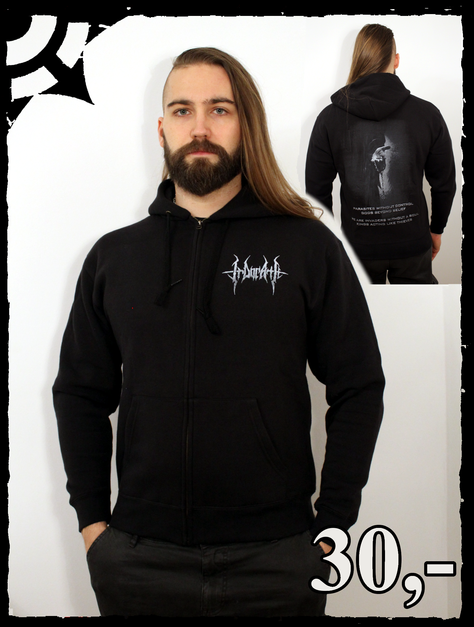 IRDORATH zipper OFFERING HAND unisex